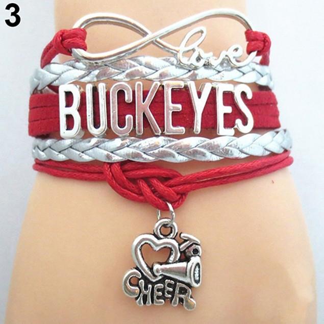 Women Multilayer Infinity Love Ohio State Bracelet