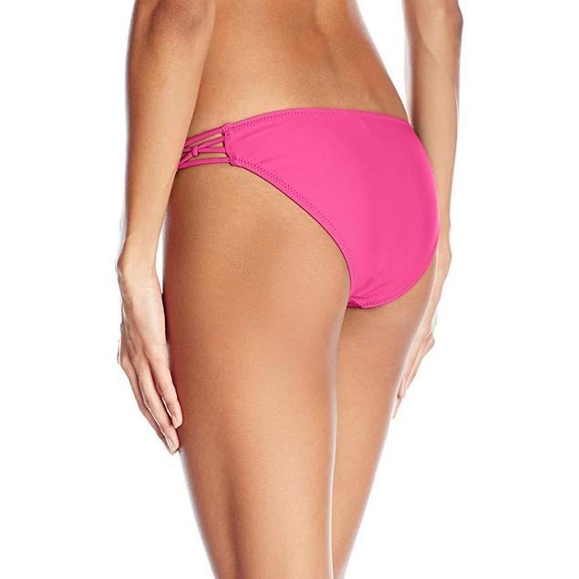 Volcom Women's Simply Solid Full Bikini Bottom, Scream Magenta, SZ L