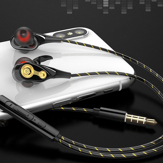 3.5mm Wired In-Ear Earphone Heavy Bass Stereo Earbuds with Mic