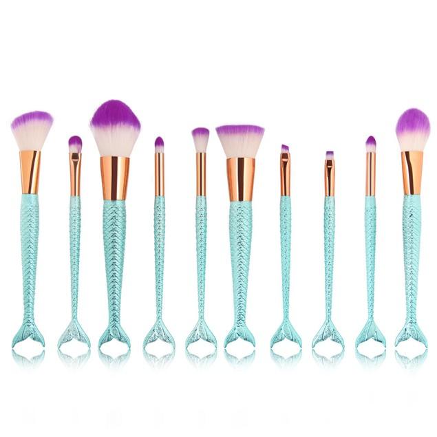 10PCS  Make Up Foundation  Blush Cosmetic Concealer Brushes 107