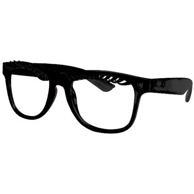 Eyelash Glasses With Black Frames Cute Novelty Party Fun Accessory Adult