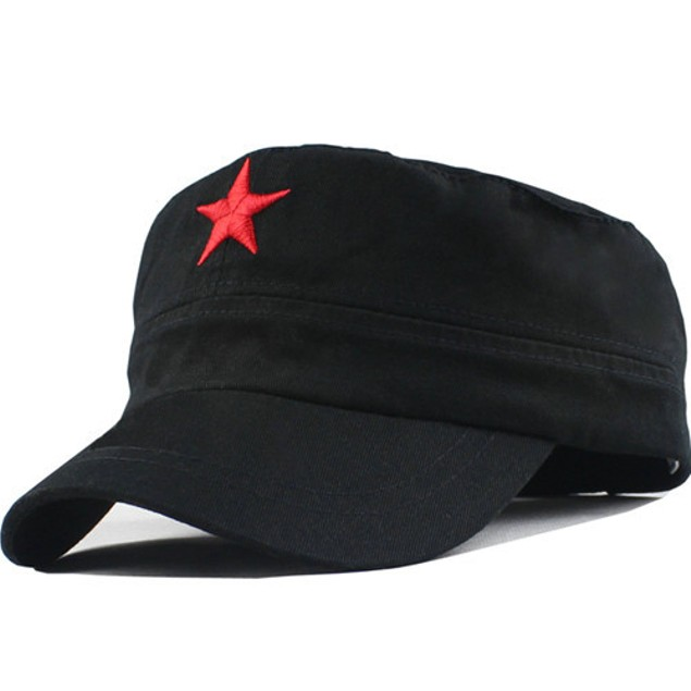 Che Guevara Red Star On Black Hat
