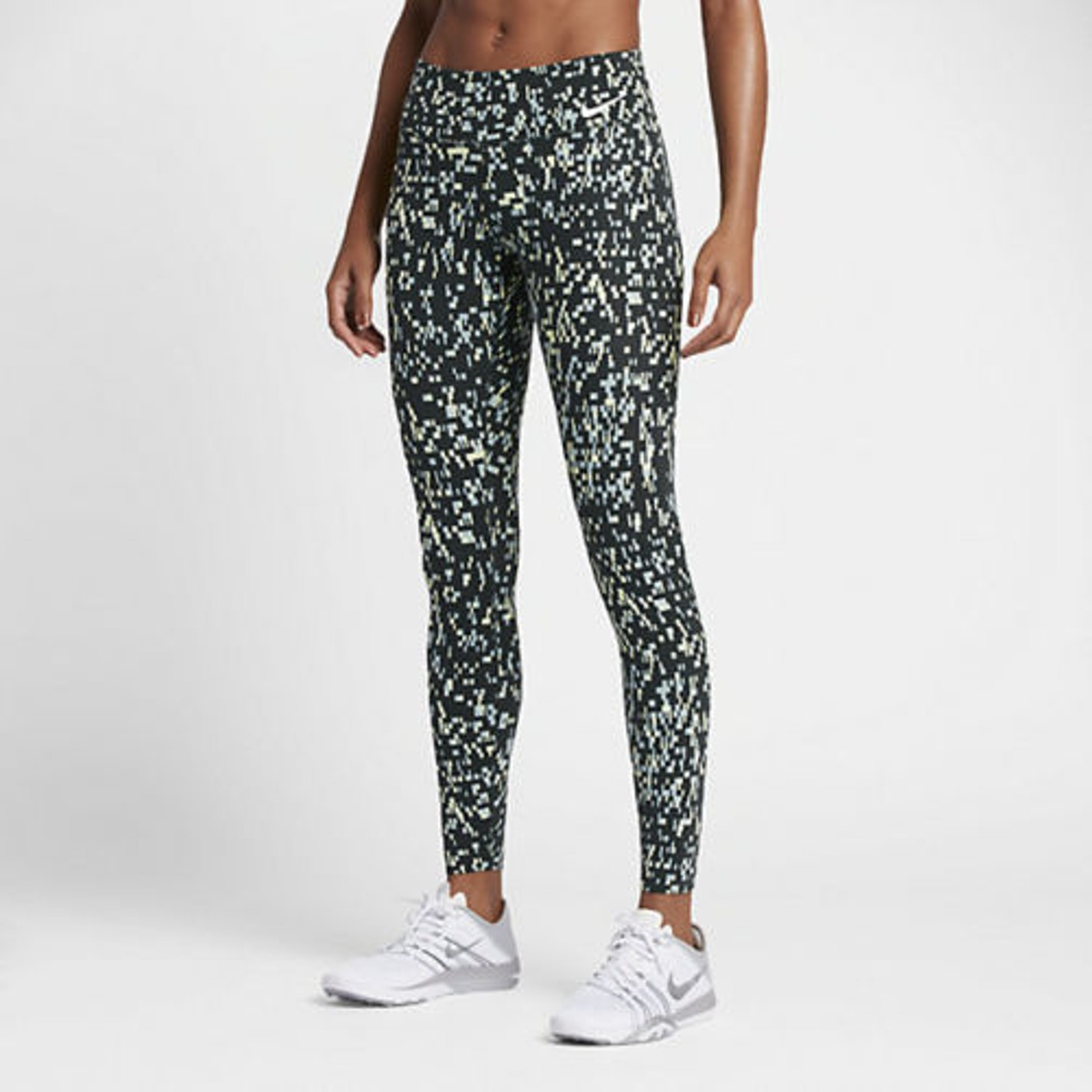 cc9f9de68d9c7 Nike Power Legendary Women's Printed Mid Rise Training Tights (803018- ...