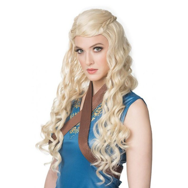 Medieval Princess Wig Game Of Thrones Daenerys Targaryen Mother of Dragons
