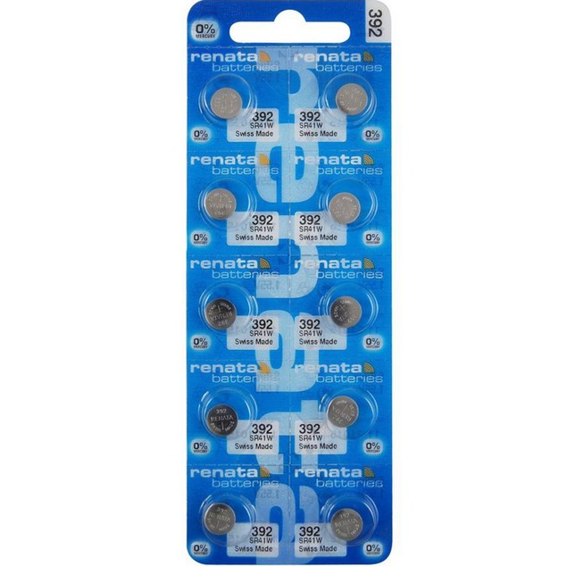 Renata 392 (SR41SW) Silver Oxide Watch Batteries (10 Pack)