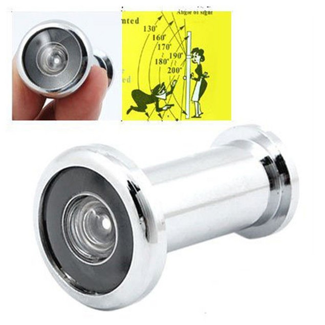 180 Degree Wide Angle Door Viewer Peep Sight Hole Zinc Alloy Door Lens