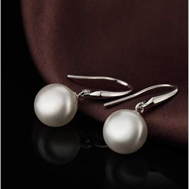 Sterling Silver Pearl Drop Earrings