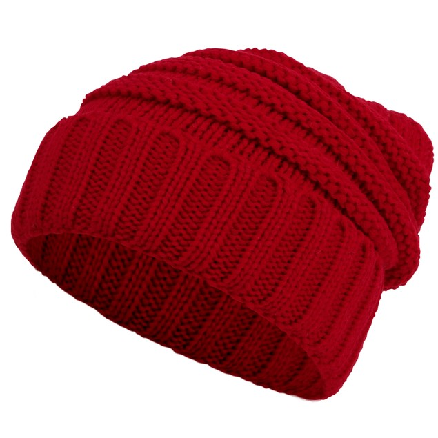 Men/Women's Chunky Soft Knitted Warm Winter Beanie Hat- 7 Colors