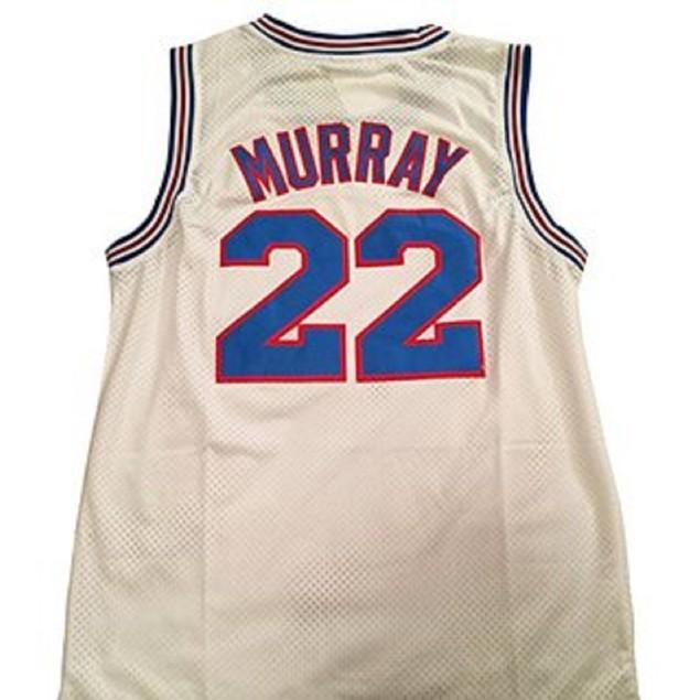 Bill Murray #22 Tune Squad White Basketball Jersey
