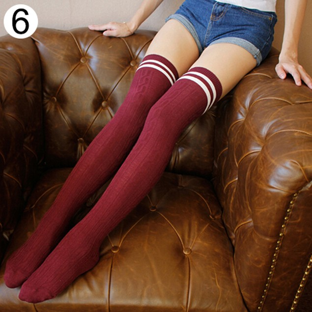 Girl's Sexy Stripe Over The Knee Socks