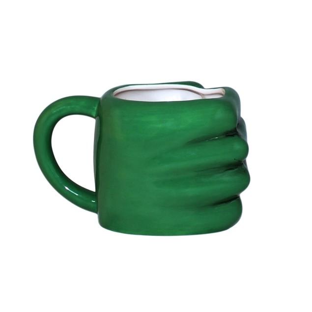 Hulk Hand Marvel Avengers 3D Mug Molded Bruce Banner Mark Ruffalo Coffee