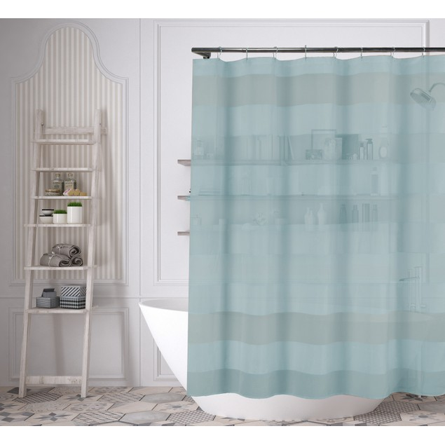 Home Maison Capricia Waterproof Striped Shower Curtain