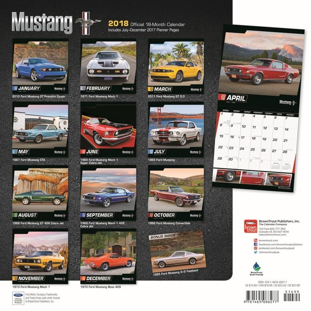 Mustang Wall Calendar, Mustang by Calendars