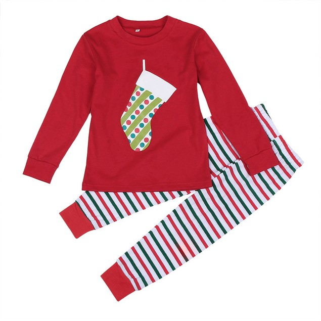 Christmas XMAS Kids Baby Pajamas Set Sleepwear Nightwear Pyjamas