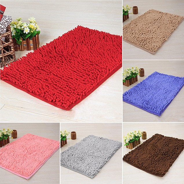 Soft Shaggy Dining Room Home Bedroom Carpet Anti-Skid Floor Mat