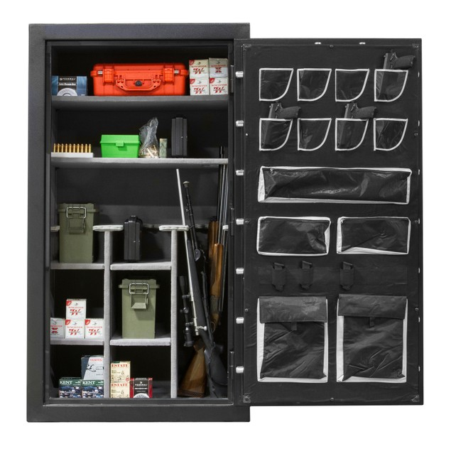 NEW Gun Cabinet Storage Safe Vault for Rifle Shotgun Ammo w Electronic Lock