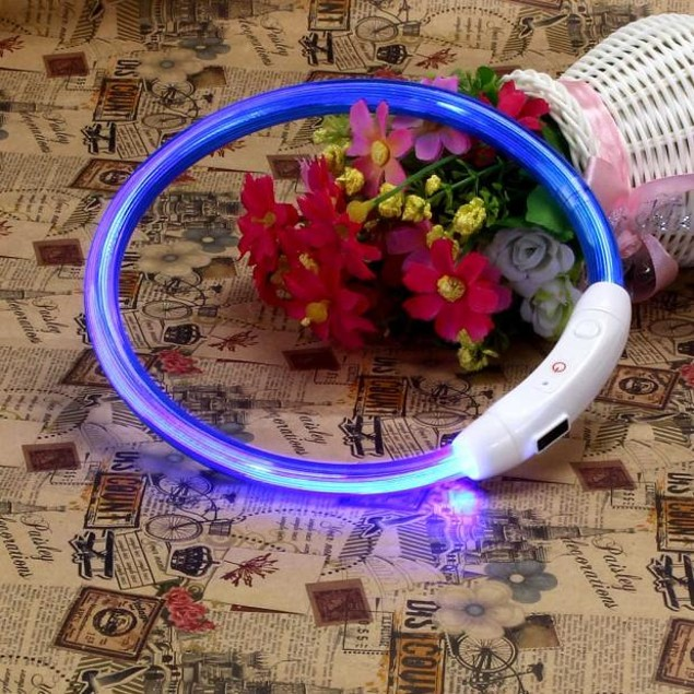 Rechargeable Flashing LED Pet Collar - Assorted Colors