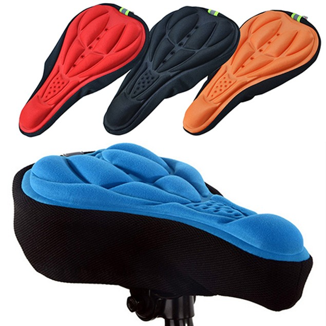 Silicone Cycling Bicycle Bike Saddle Breathable Seat Cover