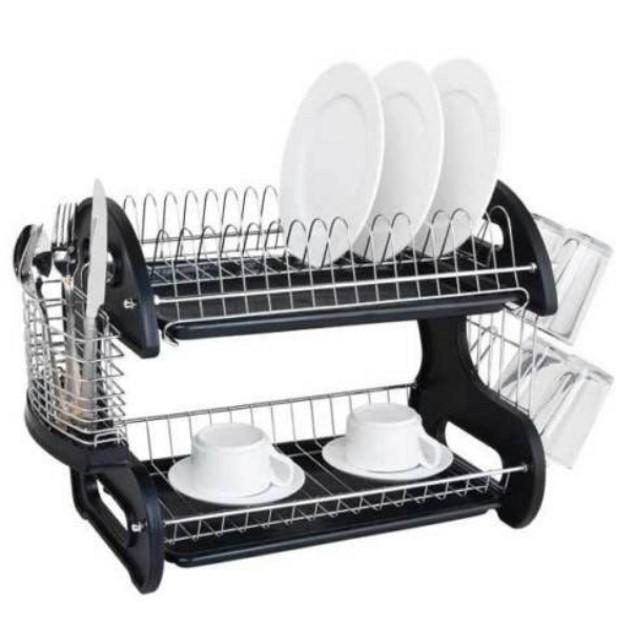 Multifunctional Dual Layer Dish Rack