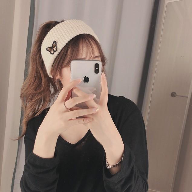 Women's Wild Knitted Empty Top Butterfly Headband Simple