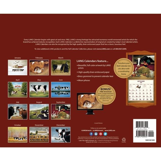 Cows Cows Cows Wall Calendar, LANG Wall Calendar by Calendars