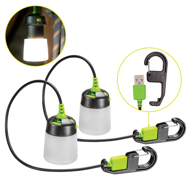 2-Pack Lumavine LED Hanging Mini Lantern