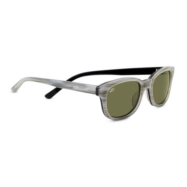 Serengeti Cosmopolitan Serena Sunglasses, Polarized 555nm, Crème Stripe Bl