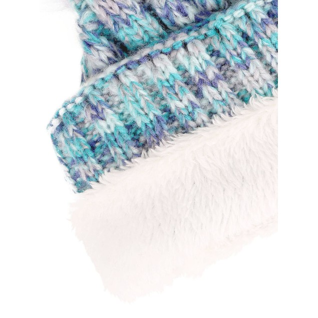Toddler Winter Hat Cable Knit Pom Pom Beanie Cap for Kids