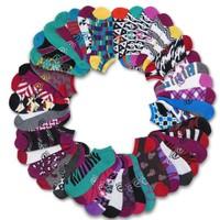 21 Pairs: Ecko Red Women's Fun Print Ankle Socks