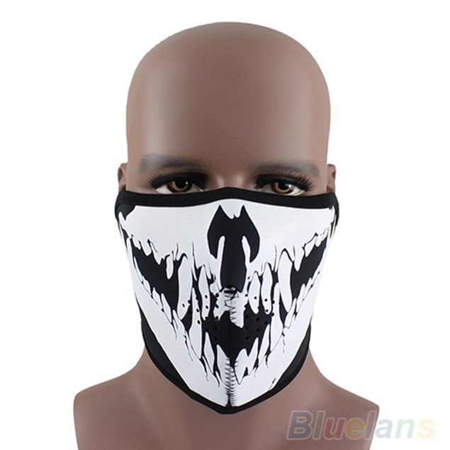 Skull Neoprene Half Face Spike Facial Mask