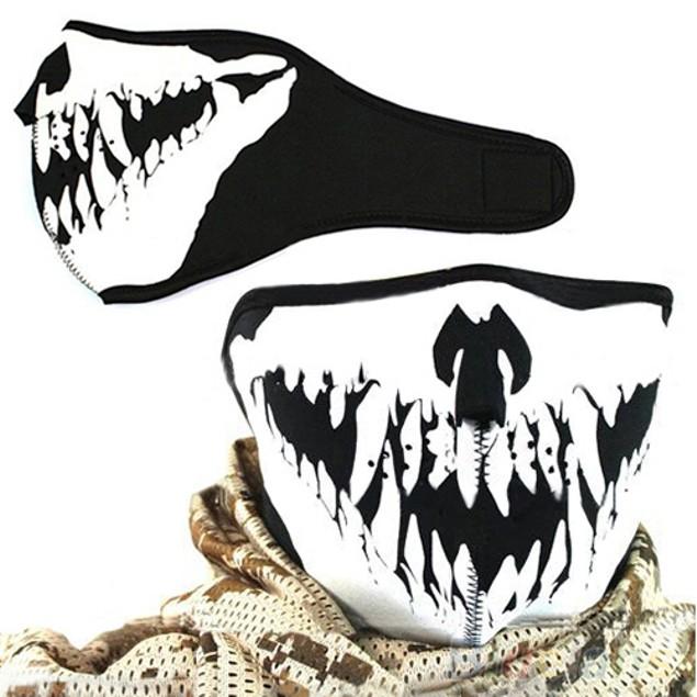 Skull Neoprene Half Face Spike Facial Mask