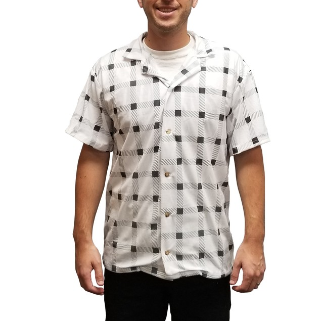 Marty McFly White Checkered Shirt