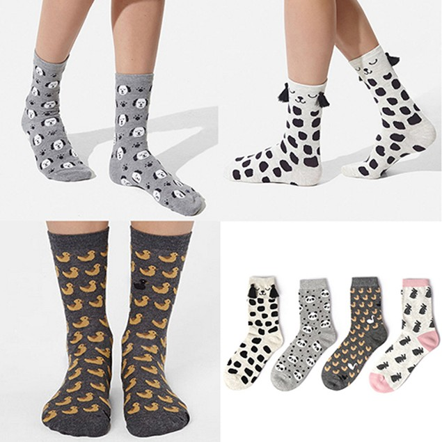 Women's Cartoon Animal Socks