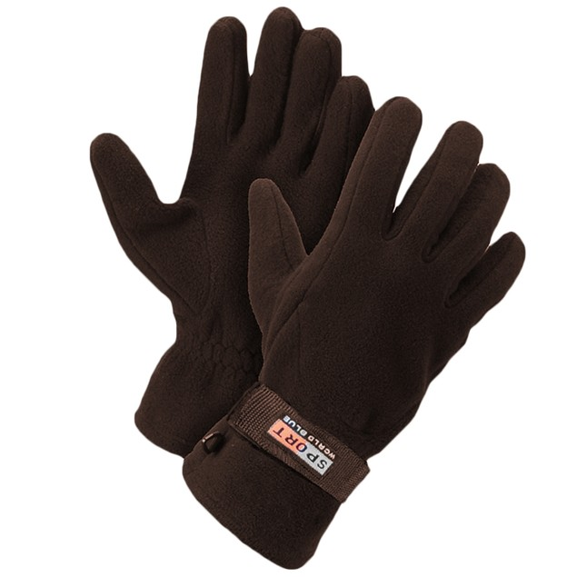 3-Pairs Men's Fleece Lined Adjustable Gloves