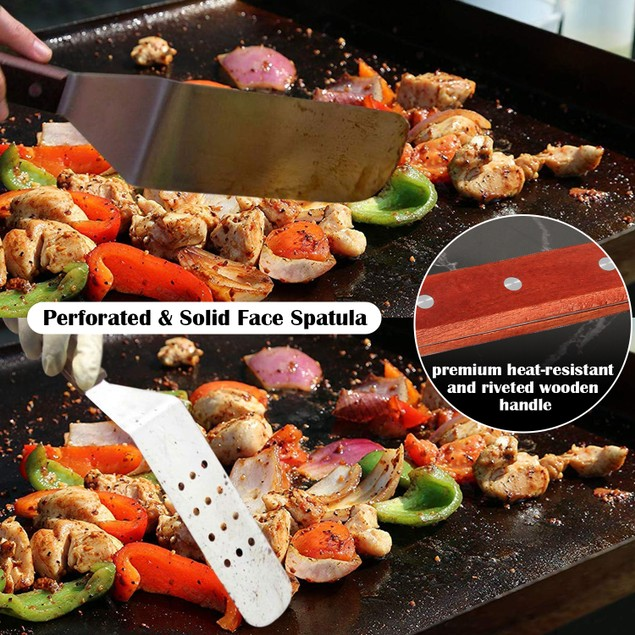 BBQ Grill Tool Set, IMAGE 14 PIECES Large Heavy Duty Stainless Steel