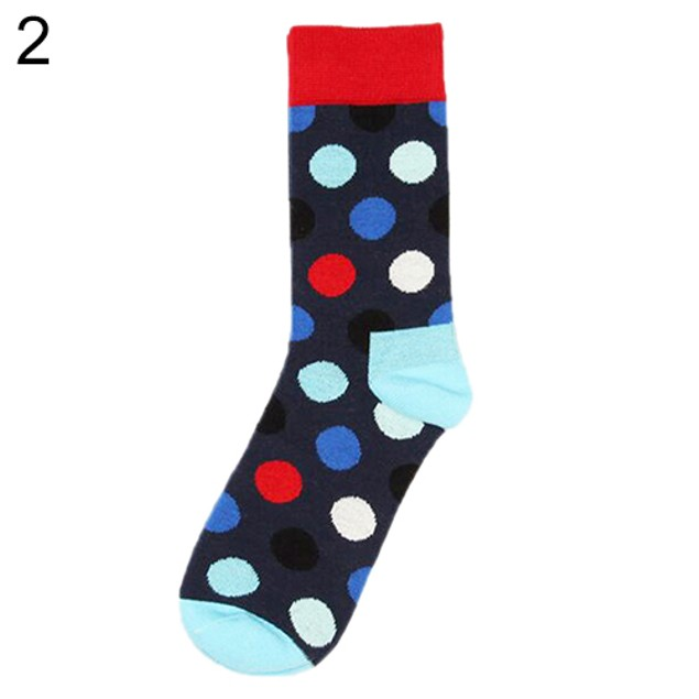 Fashion Multi-Color Polka Casual Socks