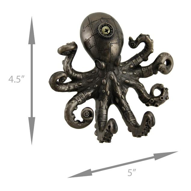 Antique Bronze Finish Steampunk Octopus Wall Hook Decorative Wall Hooks