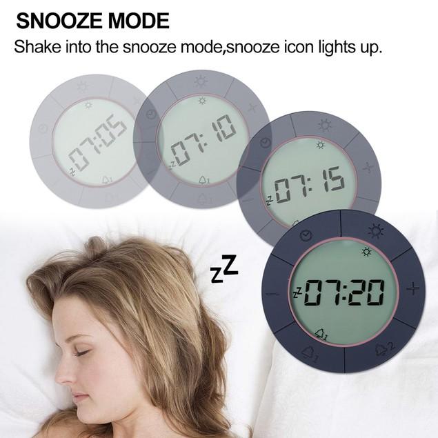 Digital Alarm Clock for Bedrooms, Travel, Kitchen, Desk, Office, Pink
