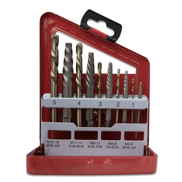 10 Pcs Screw Extractor & Bit Companion Set Left Hand