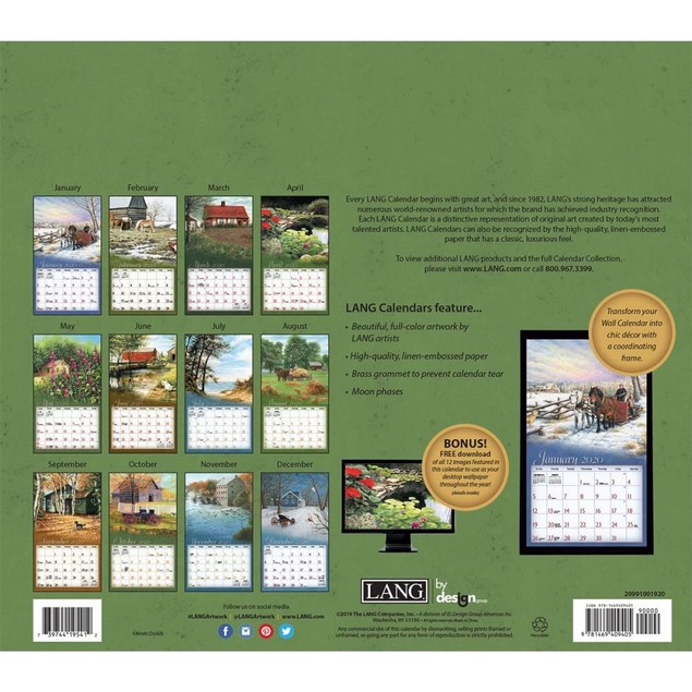 Journey Home Wall Calendar, LANG Wall Calendar by Calendars
