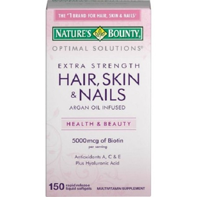 Nature's Bounty Optimal Solutions Hair, Skin & Nails, Extra Strength