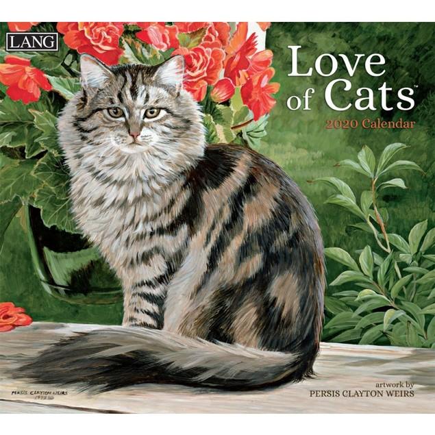 Love of Cats Wall Calendar, LANG Wall Calendar by Calendars