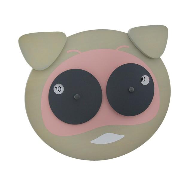 Hamlet The Googly Eyed Pig Wooden Wall Clock Wall Clocks