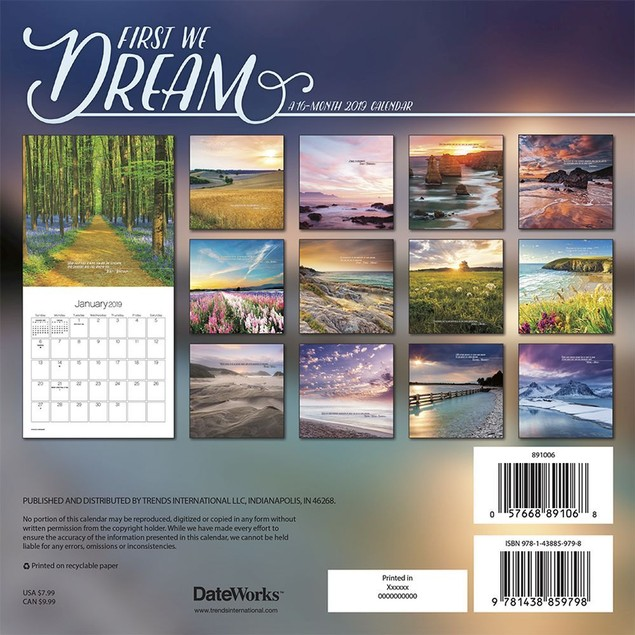 First We Dream Mini Wall Calendar, More Inspiration by Calendars