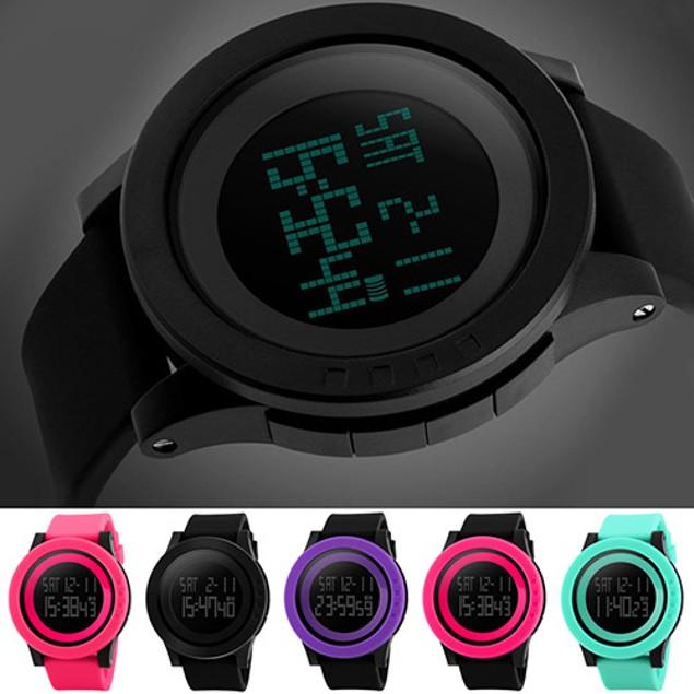 Men's Fashion Sports Silicone Waterproof LED Digital Watch