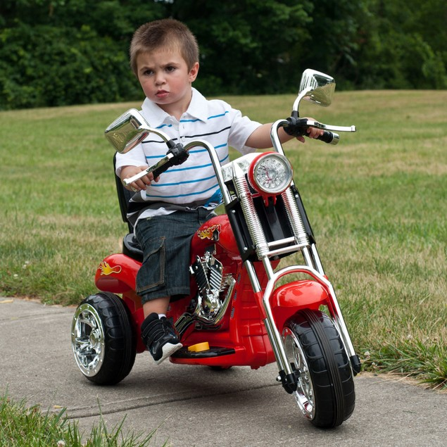 Lil' Rider Red Rocking Three Wheel Chopper Motorcycle
