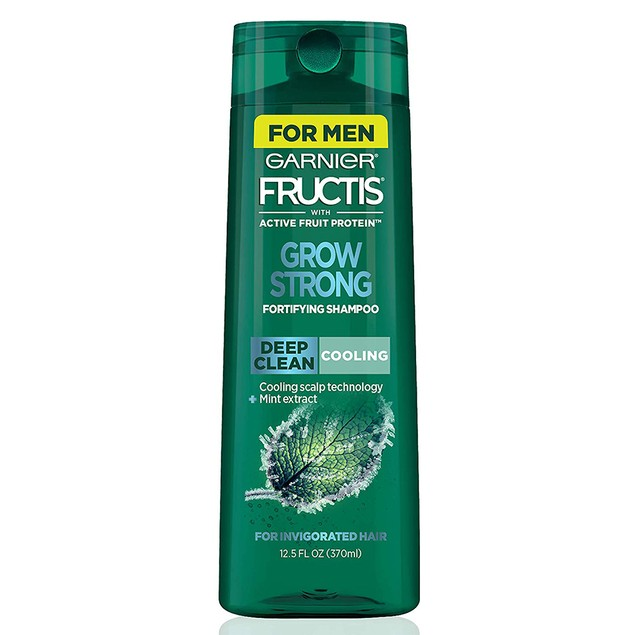 Garnier Fructis Grow Strong Cooling Deep Clean Shampoo for Men, for Invigo