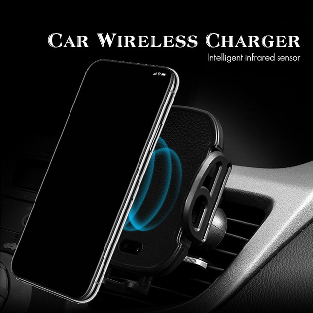 Wireless Qi Charging Smartphone Car Mount with Auto Open and Close