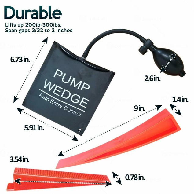 Zone Tech Air Pump Wedge Bag Spreading Tool Auto Jack Align Door Leveling
