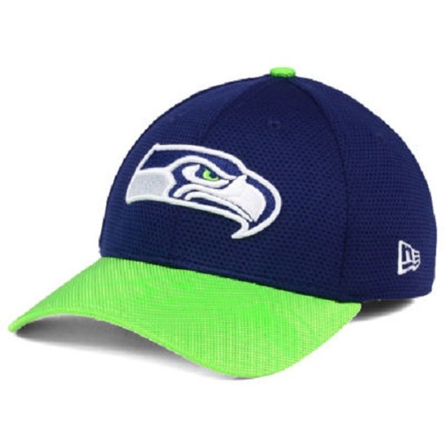 Seattle Seahawks NFL New Era 39Thirty Sideline Stretch Fitted Hat